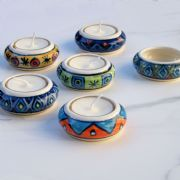Set of Colourful Tealight Holders